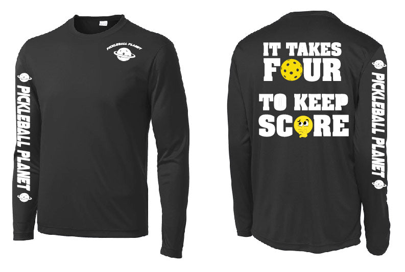 Men's Long Sleeve Performance Shirt '4 To Score'