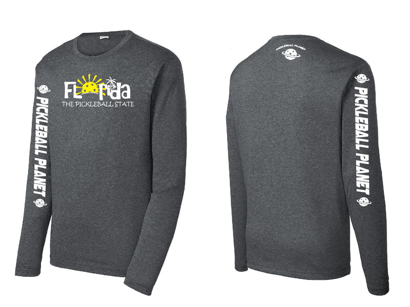Men's Long Sleeve Heather Graphite Florida