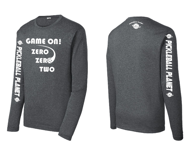 Men's Long Sleeve Heather Graphite Game On