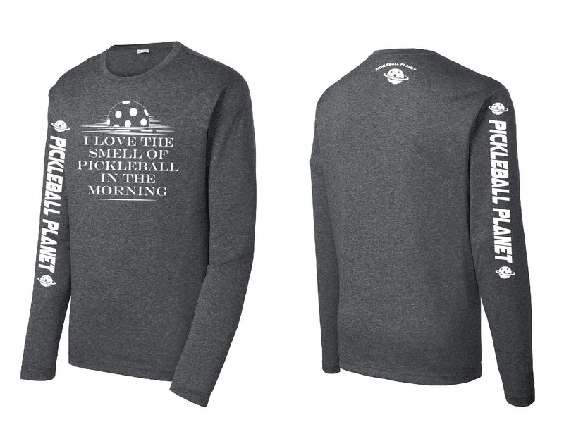 Men's Long Sleeve Heather Graphite I Love the Smell