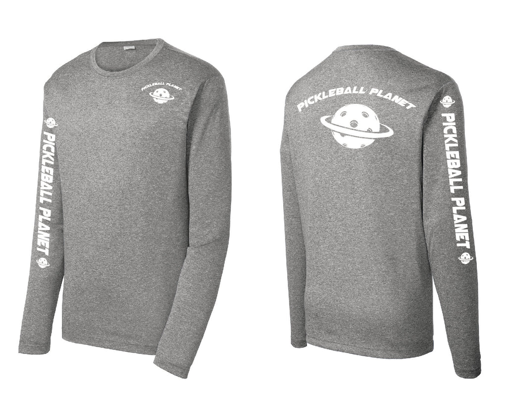 Men's Long Sleeve Heather Vintage Gray Pickleball Planet