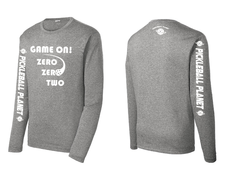 Men's Long Sleeve Heather Vintage Gray Game On