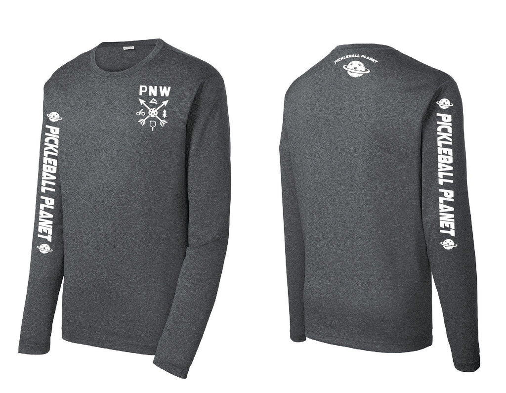 Men's Long Sleeve Heather Graphite PNW