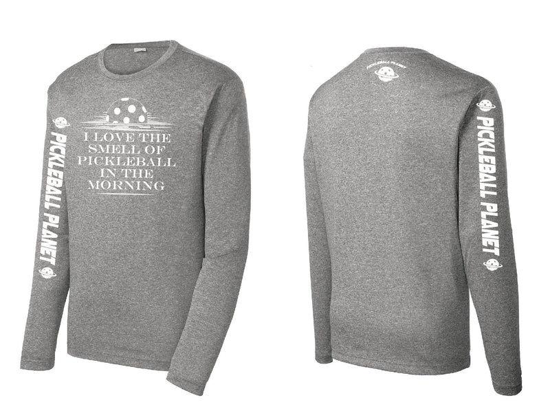 Men's Long Sleeve Heather Vintage Gray I Love the Smell