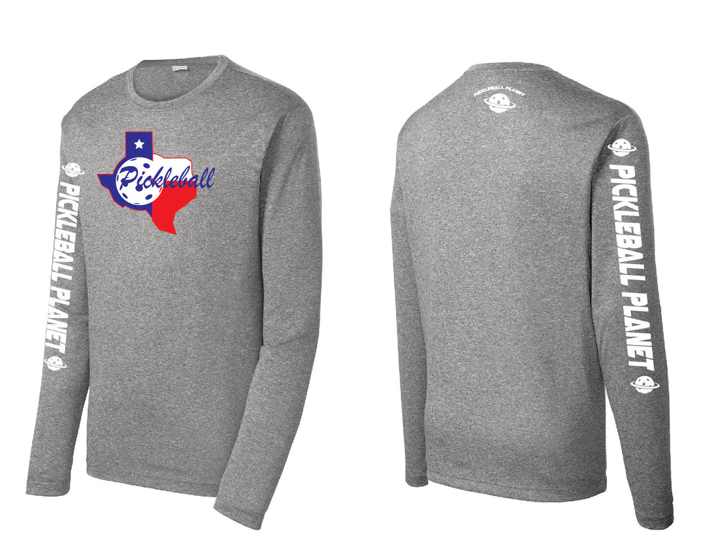 Men's Long Sleeve Heather Gray Texas State