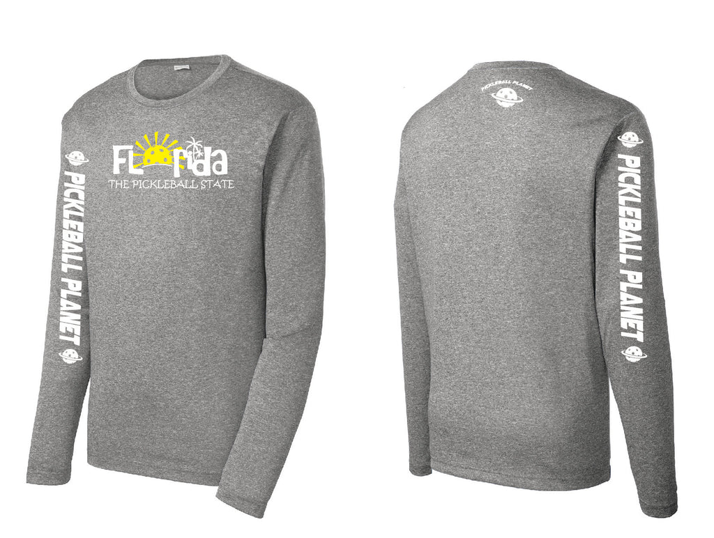 Men's Long Sleeve Heather Vintage Gray Florida