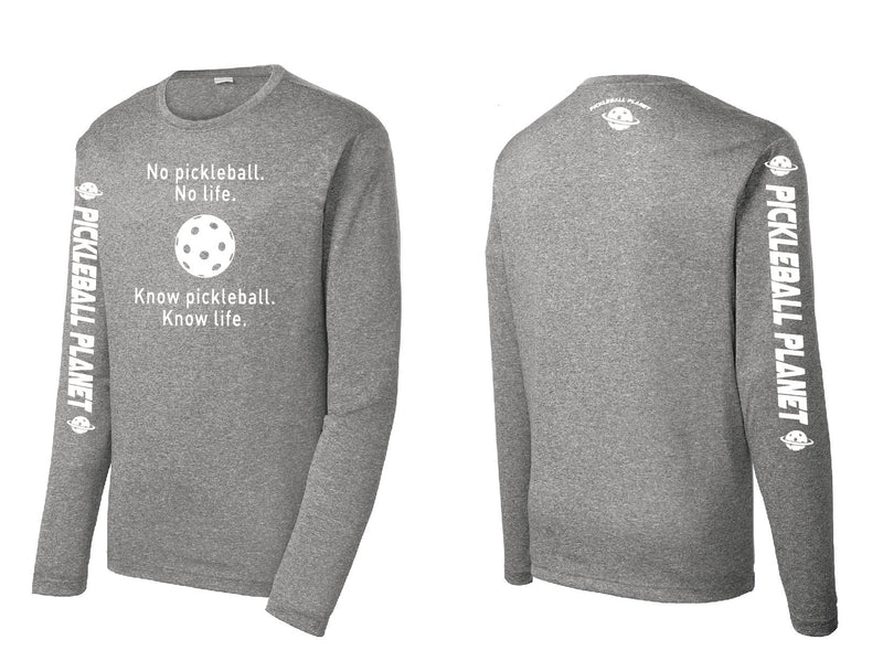 Men's Long Sleeve Heather Vintage Gray Know Pickleball