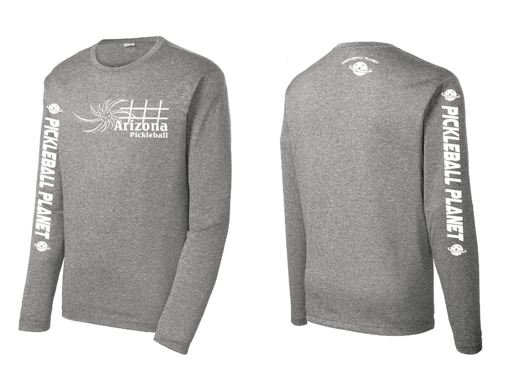 Men's Long Sleeve Heather Vintage Gray Arizona Sun