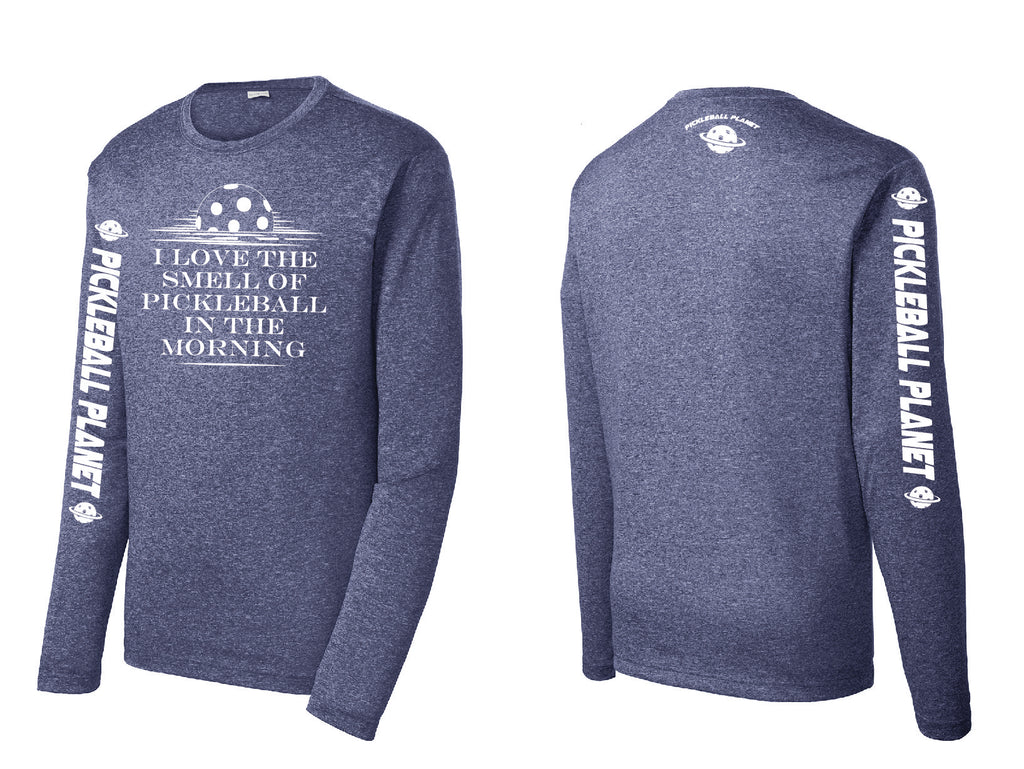 Men's Long Sleeve Heather Navy Blue I Love the Smell