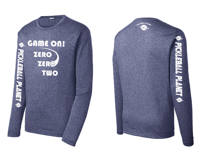 Men's Long Sleeve Heather Navy Blue Game On