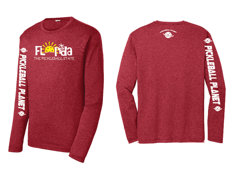 Men's Long Sleeve Heather Scarlet Red Florida