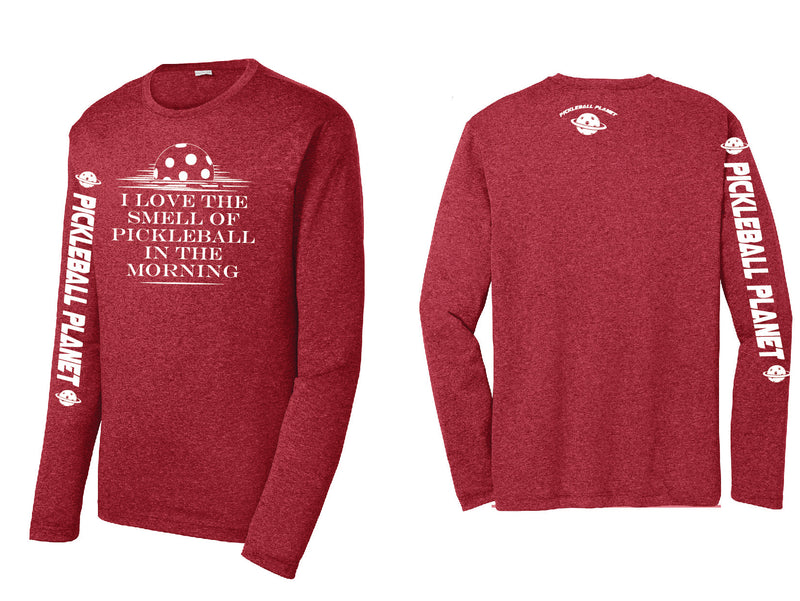 Men's Long Sleeve Heather Scarlet Red I Love the Smell