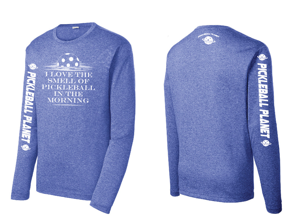 Men's Long Sleeve Heather Royal Blue I Love the Smell