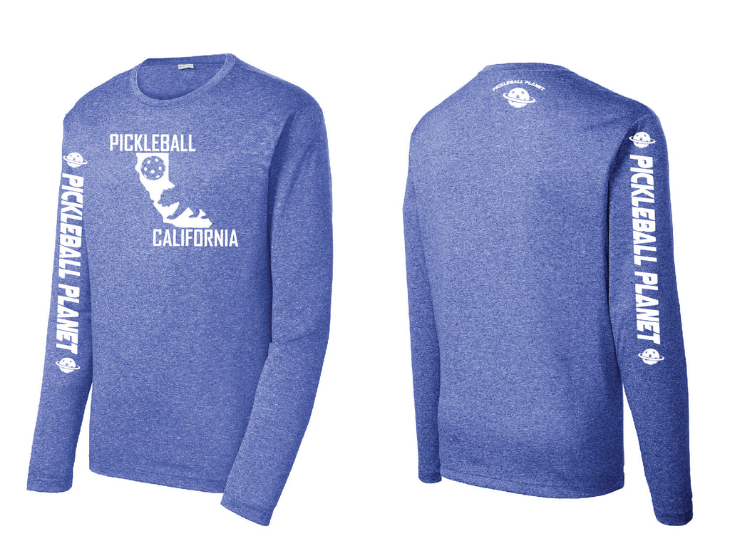 Men's Long Sleeve Heather Royal Blue California Bear