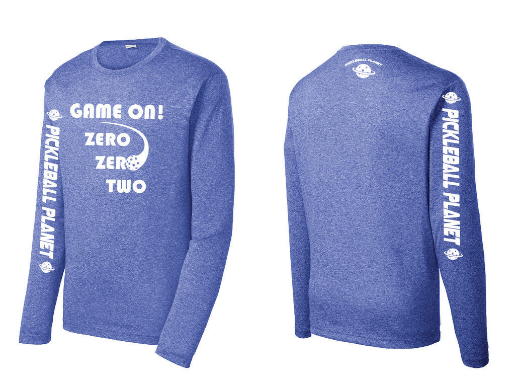 Men's Long Sleeve Heather Royal Blue Game On