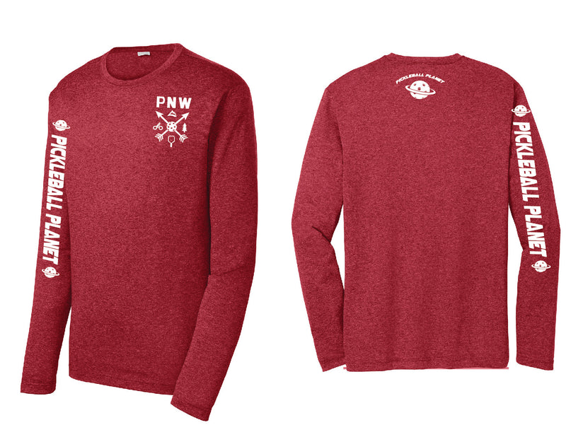 Men's Long Sleeve Heather Red PNW