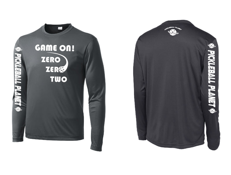 Men's Long Sleeve Iron Gray Game On