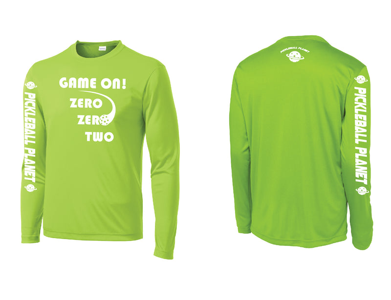 Men's Long Sleeve Lime Shock Green Game On
