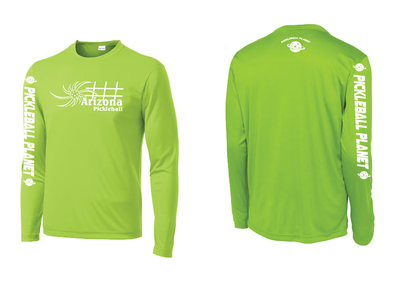 Men's Long Sleeve Lime Shock Green Arizona Sun