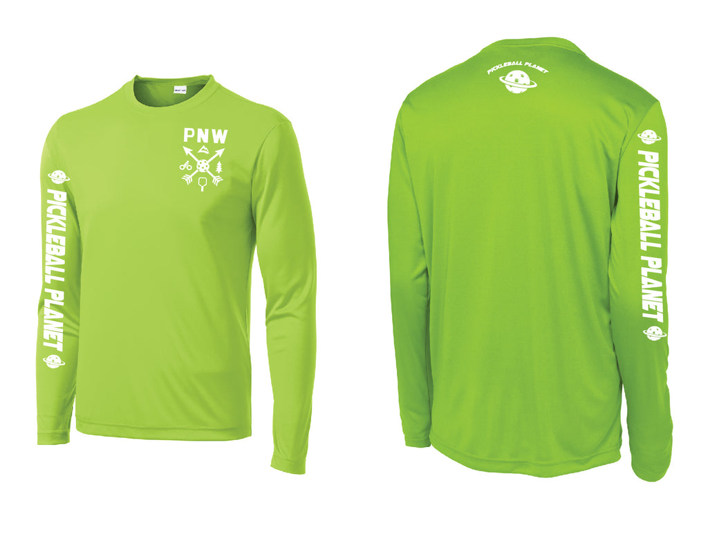 Men's Long Sleeve Lime Shock Green PNW