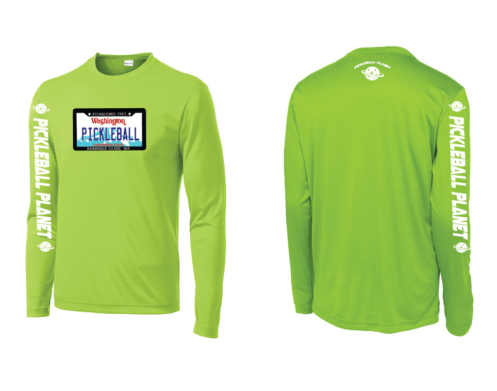 Men's Long Sleeve Lime Shock Green Washington Plate