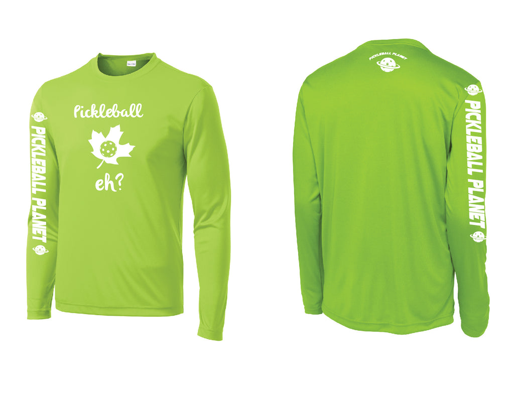 Men's Long Sleeve Lime Shock Green Pickleball Eh