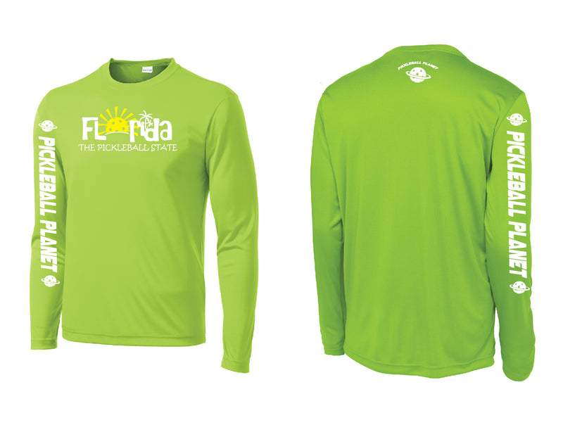 Men's Long Sleeve Lime Shock Green Florida
