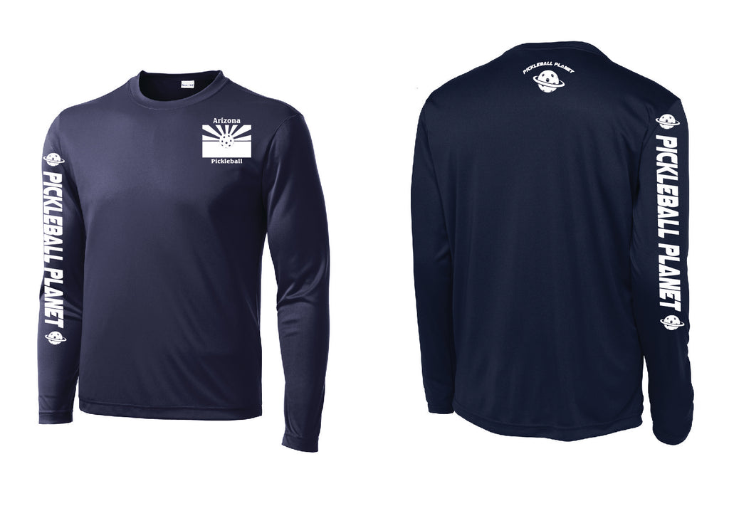 Men's Long Sleeve Navy Blue Arizona Flag
