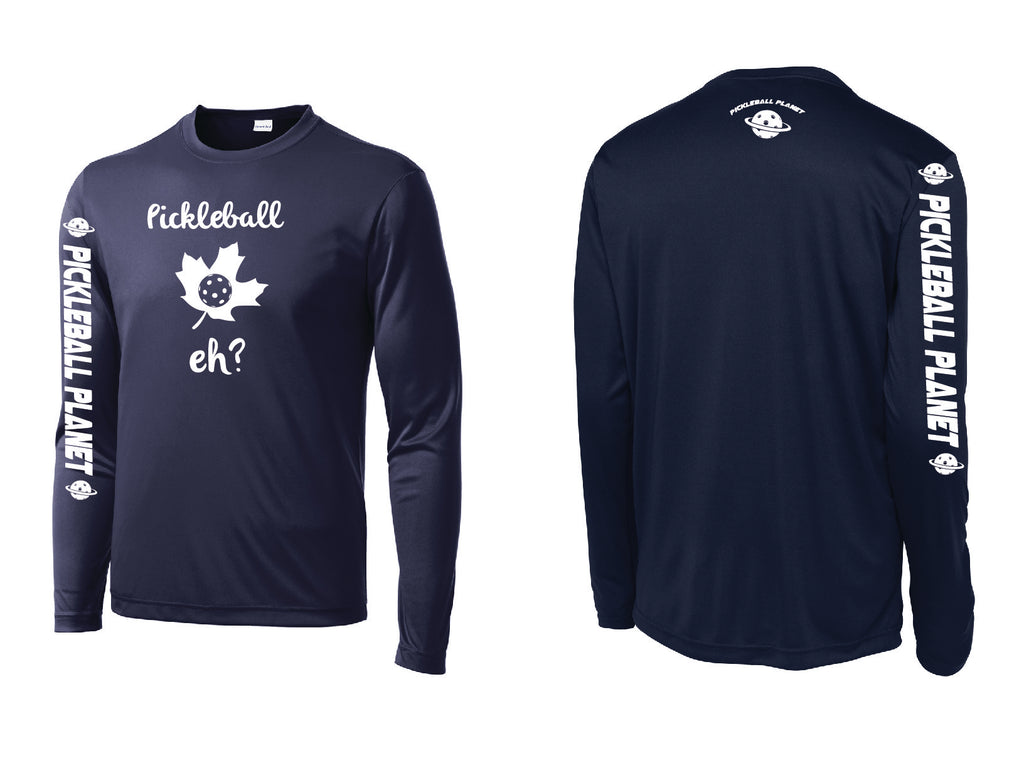 Men's Long Sleeve Navy Blue Pickleball Eh