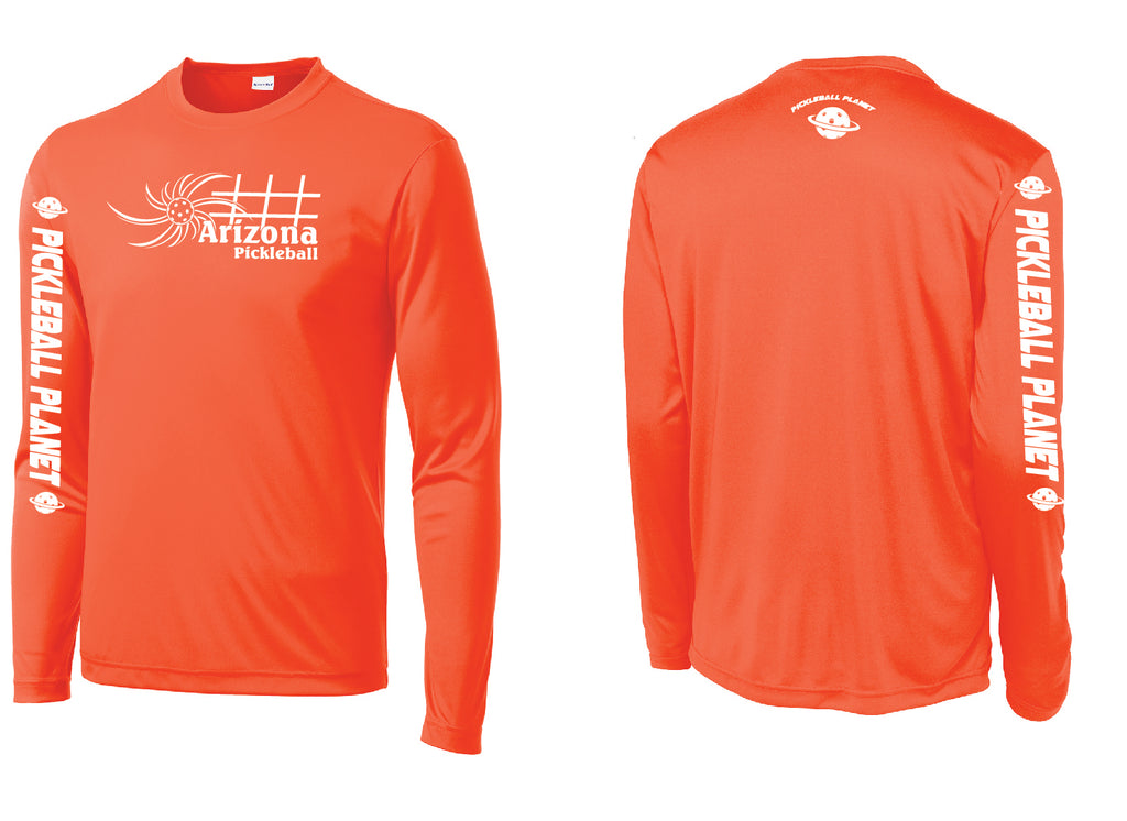 Men's Long Sleeve Neon Orange Arizona Sun