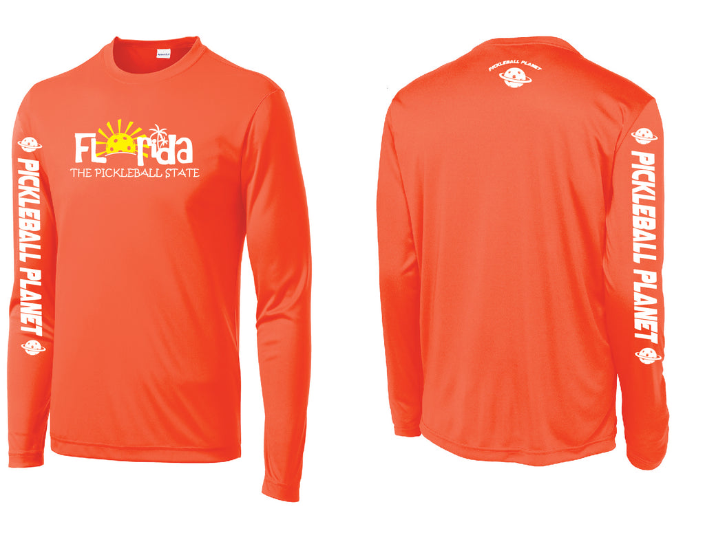 Men's Long Sleeve Neon Orange Florida