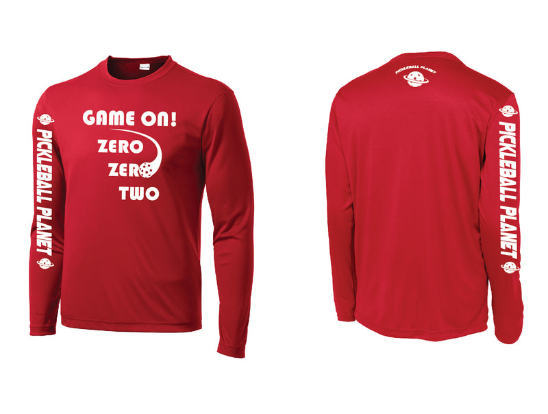 Men's Long Sleeve Red Game On