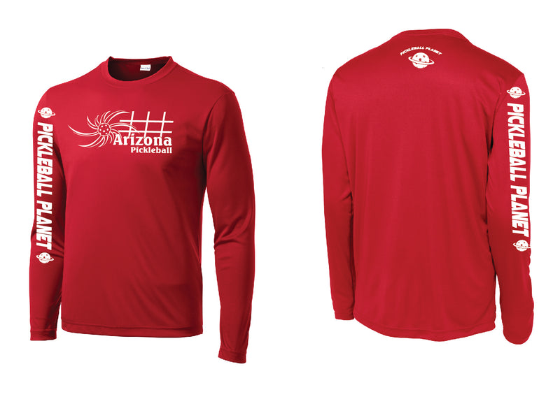 Men's Long Sleeve Red Arizona Sun