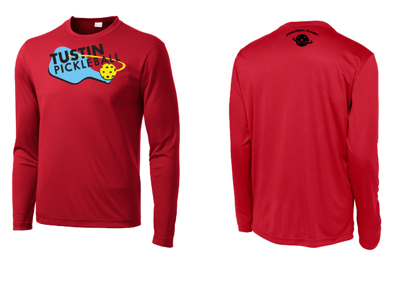 Men's Long Sleeve Performance 'Tustin PBC' Shirt- Red