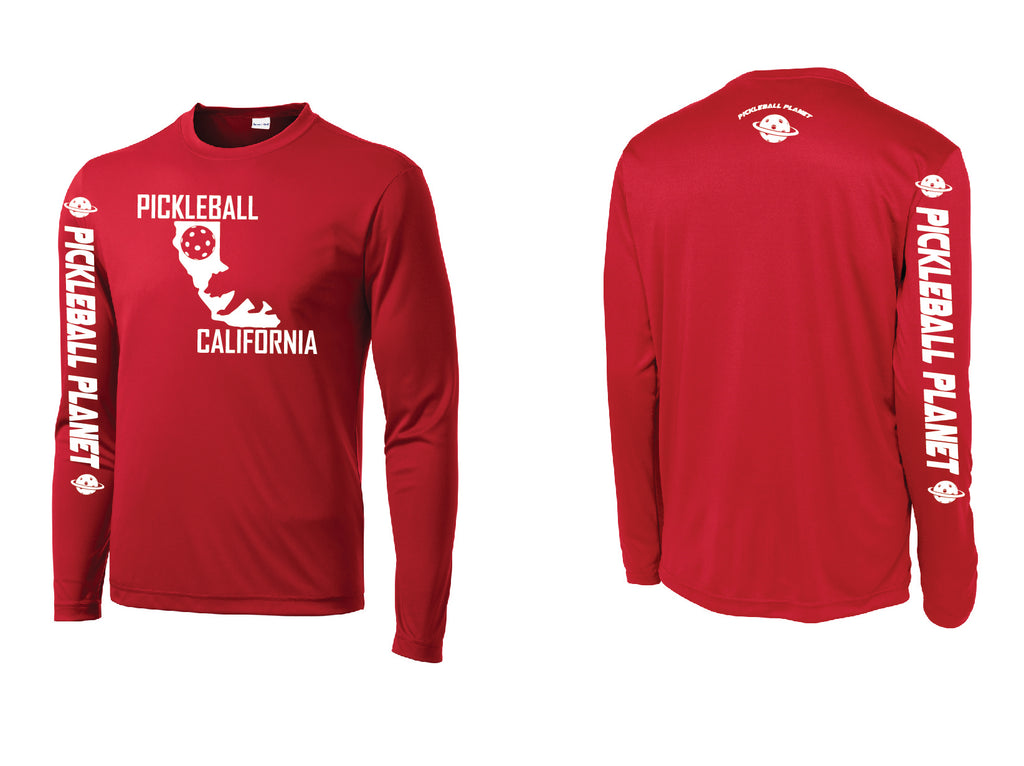 Men's Long Sleeve Red California Bear