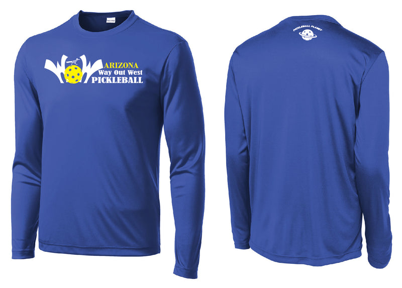 Men's Long Sleeve Performance 'AZ WOW' Shirt- Royal Blue