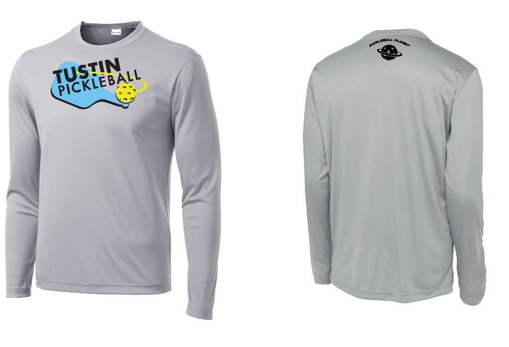 Men's Long Sleeve Performance 'Tustin PBC' Shirt- Silver