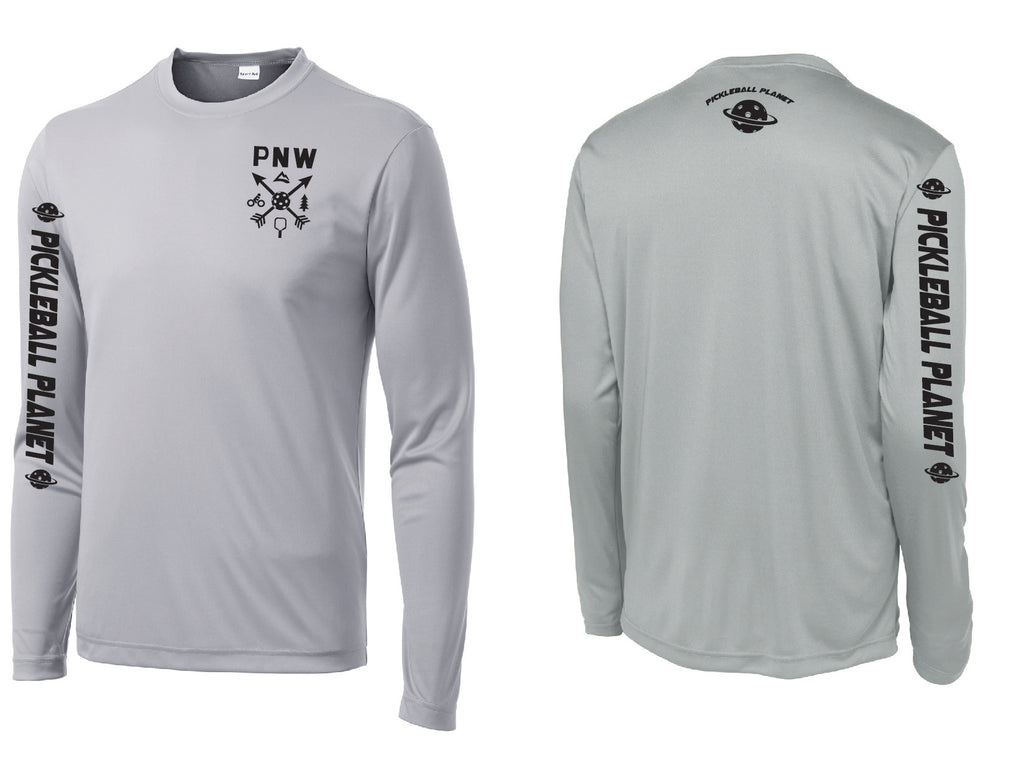 Men's Long Sleeve Silver PNW