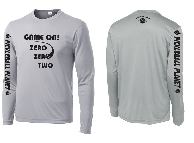 Men's Long Sleeve Silver Game On