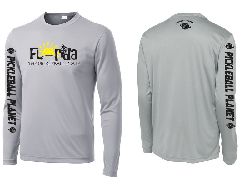 Men's Long Sleeve Silver Florida