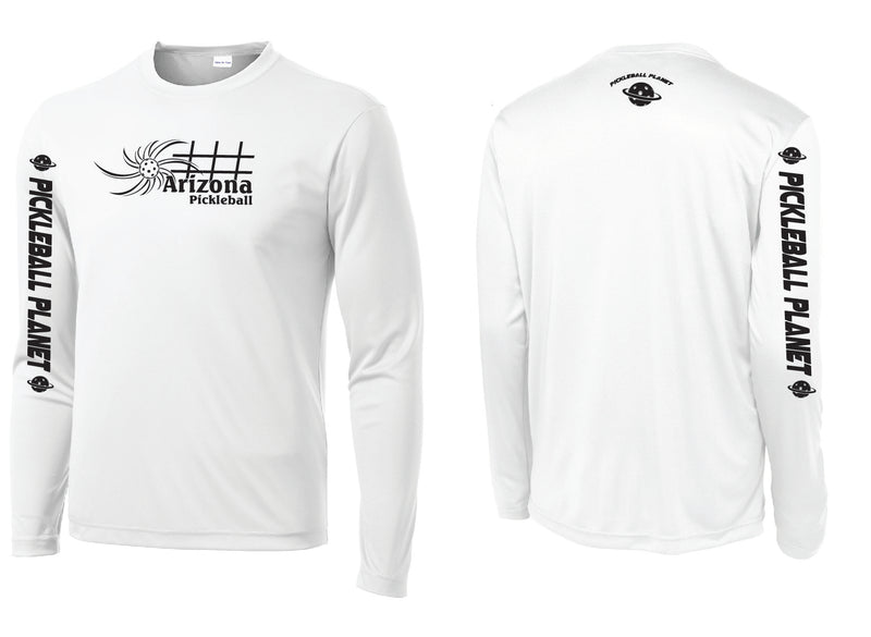 Men's Long Sleeve White Arizona Sun