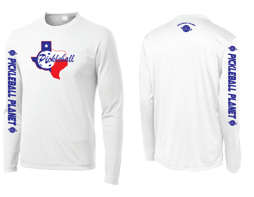 Men's Long Sleeve White Texas State