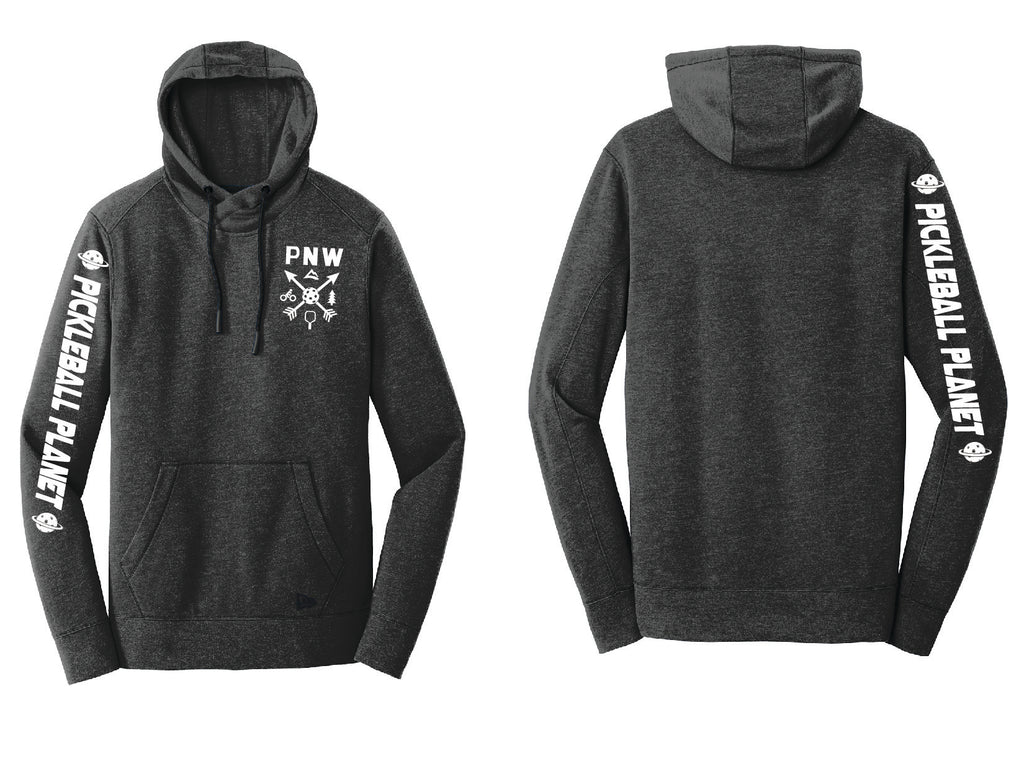 Men's Pullover Hoodie Black Heather PNW