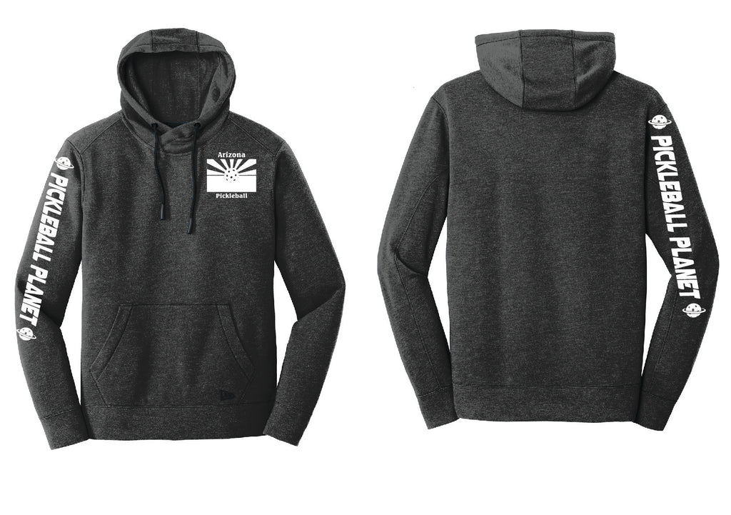 Men's Pullover Hoodie Black Heather Arizona Flag