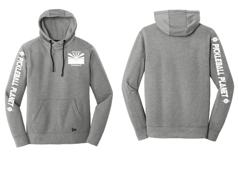 Men's Pullover Hoodie Shadow Gray Heather Arizona Flag