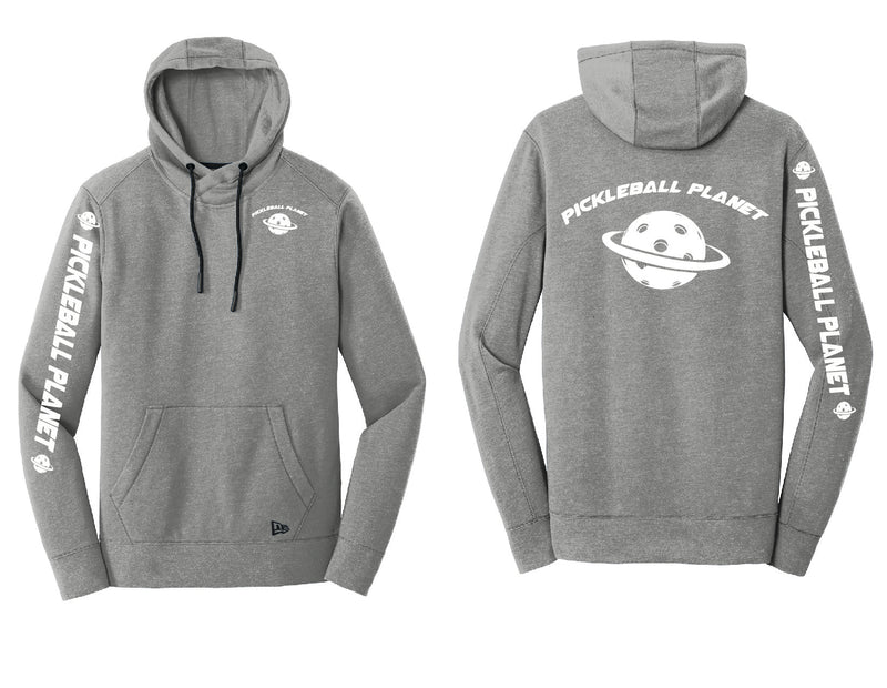 Men's Pullover Hoodie Shadow Gray Heather Pickleball Planet