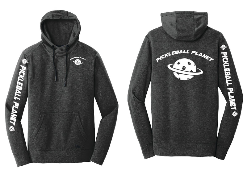 Men's Pullover Hoodie Black Heather Pickleball Planet