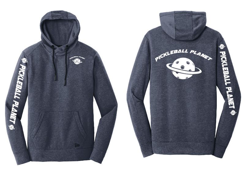 Men's Pullover Hoodie Navy Heather Pickleball Planet