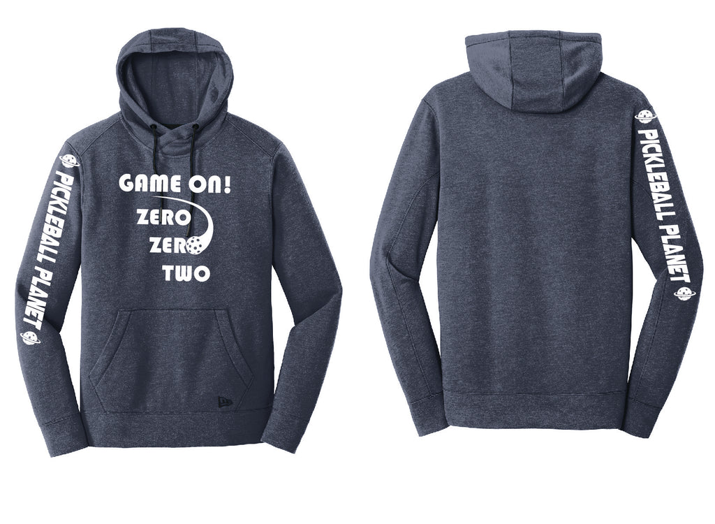 Men's Pullover Hoodie Navy Blue Heather Game On