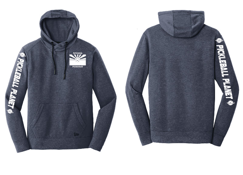 Men's Pullover Hoodie Navy Blue Heather Arizona Flag